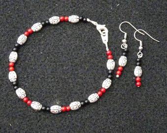 Ladybugs Bracelet and Earrings