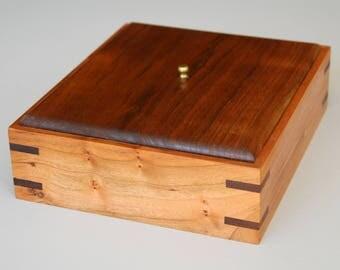 Cherry and Walnut keepsake box.