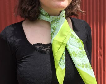 Lime Green Fashion Scarf