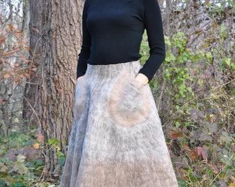 """Felted skirt """"pecan"""""""