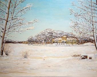 Oilpainting - Winter in Kuzminki