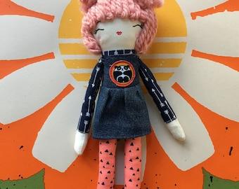 Panda Girl Rag Doll
