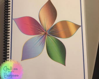 Colorful Flower Journal