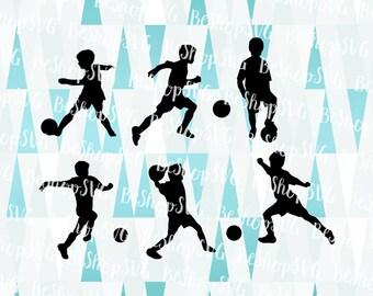 Soccer players SVG, Soccer SVG, Soccer boy SVG, Junior Soccer players, Instant download, Sport Svg, Eps - Dxf - Png - Svg