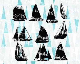 Sailboat bundle SVG, Sailboat SVG, Sailship SVG, Sailing Svg, Summer Svg, Instant download, Ship Svg, Eps - Dxf - Png - Svg