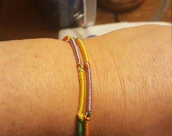Boho gypsy style stacking bracelet