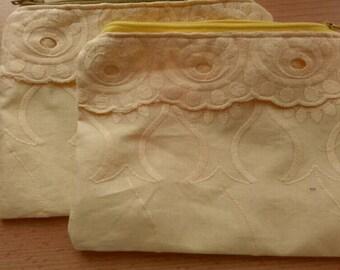 Zipper pouch in yellow