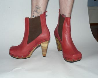 Red John Fluevog boots, size 38.  Like new!!