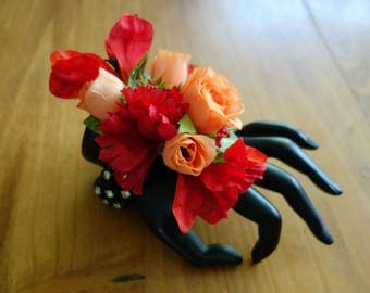 Red Prom Corsage Bracelet