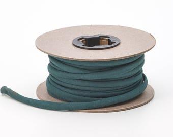 Broadcloth spaghetti, 1/4-inch Wide, 15 yds, Hunter green