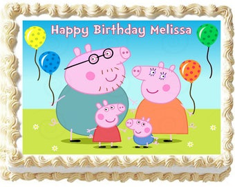 PEPPA PIG image edible cake topper party