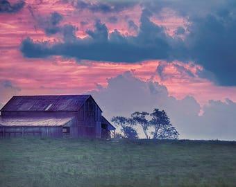 Morning Row | Frankfort, KY | Barn Sunrise Photograph