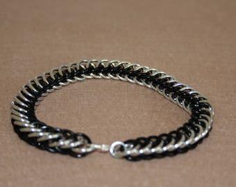 Chain Maille Half Persian Bracelet Black