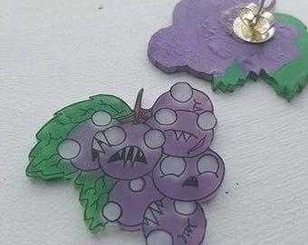 Zombie Grape Earrings