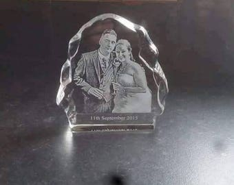 Personalised glass photo gifts