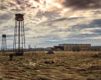 Water Towers at old Factory