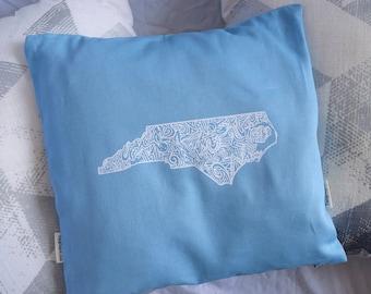 "North Carolina 12"" x 12"" Throw Pillow Cover"