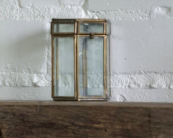 small geometric glass terrarium container