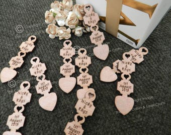 Personalised Wooden Lovespoons, Favours, Table Decorations, Welsh, Vintage Weddings