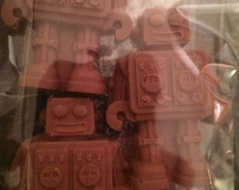6 X Belgian chocolate robots