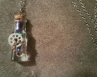 Galaxy Gears Vial Necklace