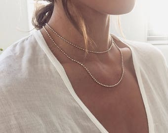 Gold double layer choker