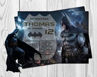 Batman Invitation, Batman Birthday, Batman  Party, Batman, Batman Invites, Personalized Batman Invite, Batman Movie, Batman Custom