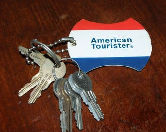 Vintage American Tourister Keychain with keys