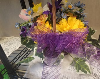 Wicker Basket Floral Arrangement