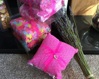 Drawer cushions, lavander scented cushion, gift for her, handmade. Decorative cushion.