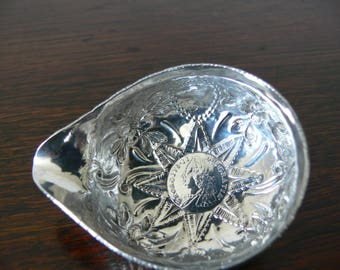Highly decorated Georgian Silver Toddy Ladel