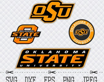 Oklahoma State University Logo SVG DXF EPS Png Cut Vector File Silhouette Cameo Cricut Design Vinyl Decal Template Stencill Heat Transfer