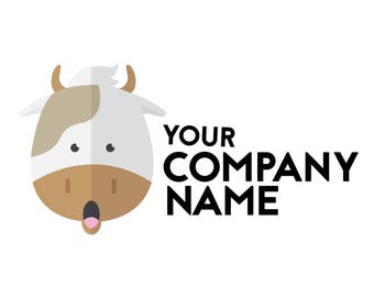 Pre-made Logo/Logo Design Only For you/Logo Design/Farming/Cow