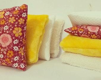 Sensory cushions Montessori pedagogy Waldorf Steiner tactile cushions inspiration