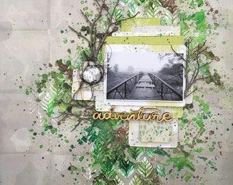 adventure - 12x12 scrapbook layout