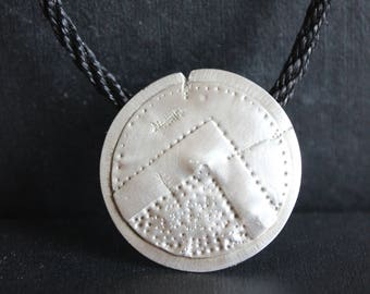 Spartan shield necklace. Hand made silver pendant. Exclusive necklace.