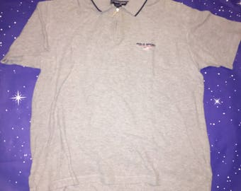 Vintage Grey Polo Sport Shirt