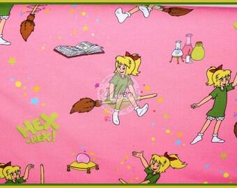 Bibi Blocksberg Jersey pink jersey fabric