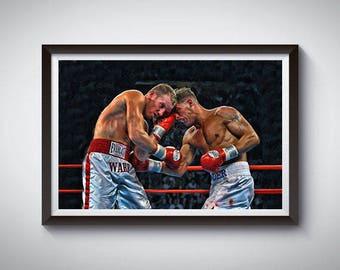 Boxing Inspired Art Poster Print, Arturo Gatti vs Micky Ward Poster