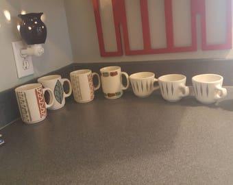 Mid-century modern coffee mugs
