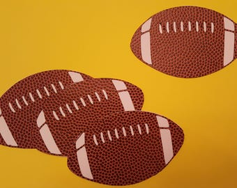 Football Die Cuts with football textured paper