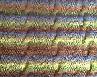 Hand knitted blanket