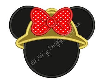 Girl Safari Mouse Applique Design