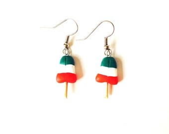 Earrings, POPSICLE, miniature, polymer clay earrings by The Sausage