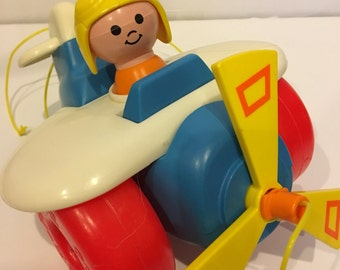 Vintage Fisher-Price Pull-Along Airplane