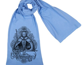 Elizabeth l Tudor Scarf Screen printed Cotton Scarf