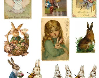 Vintage Easter Ephemera - Digital Download