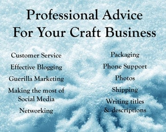 Professional Advice for your Craft Business including Ongoing Email & Telephone Support
