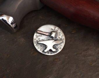 Anvil + Hammer Pendant - Sterling Silver