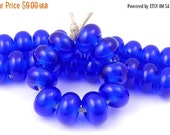 Boxing Week Sale CiM Royal - Handmade Artisan Lampwork Glass Beads 5mmx9mm - SRA (Set of 10 Spacer Beads)